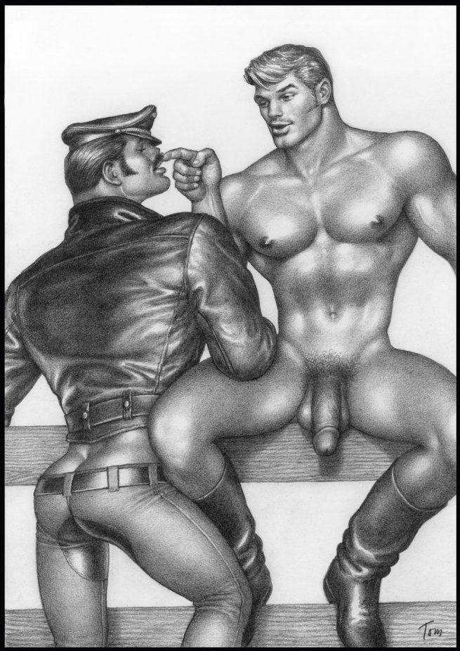 Tom of Finland (Touko Laaksonen, Finnish, 1920-1991) 'Untitled' (No.1 from 'Cyclist and the Farm Boy' series) 1973