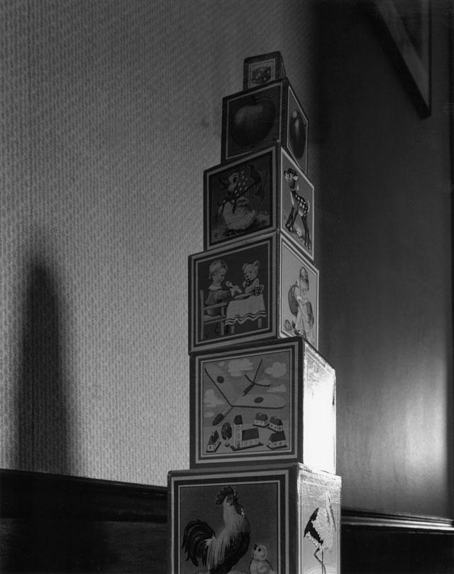 Abelardo Morell (American, born Cuba, 1948) 'Toy Blocks' 1987