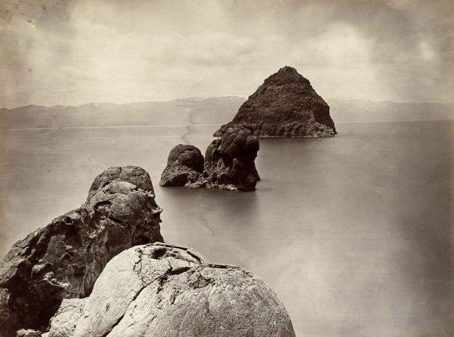 Timothy H. O'Sullivan. 'Tufa Domes, Pyramid Lake, Nevada' 1867