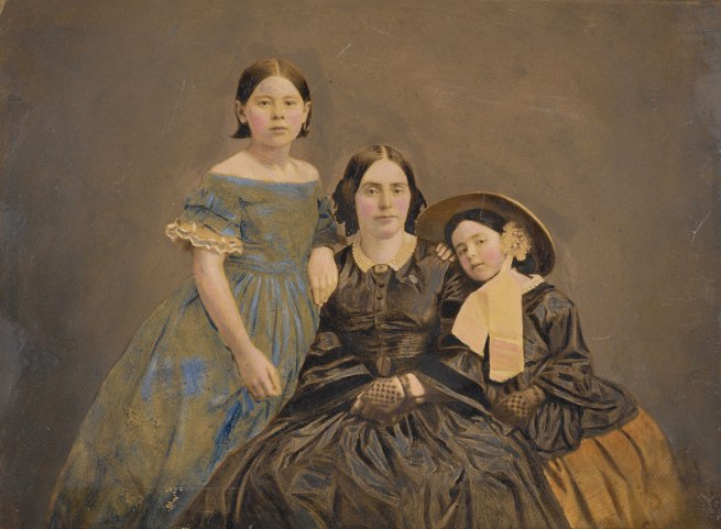 Unknown photographer. 'Untitled (Woman with two daughters)' c. 1850s