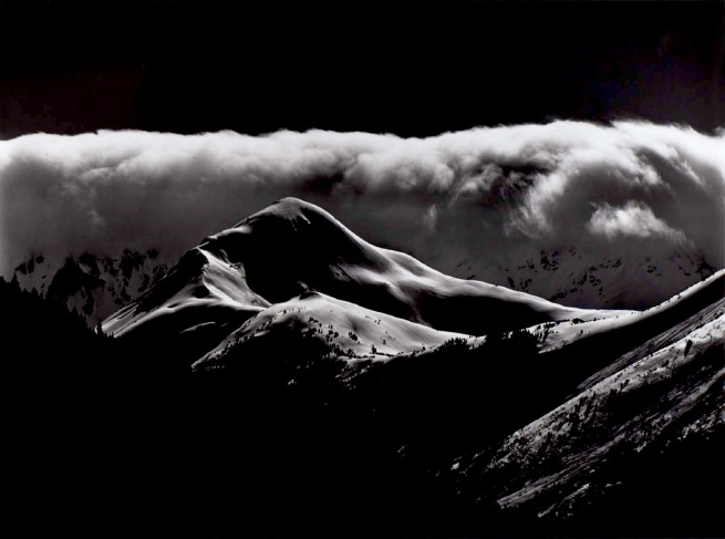 Brett Weston. 'Untitled (Snow Covered Mountains)' 1973
