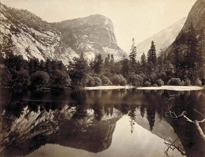 Charles L. Weed (born New York City 1824 - died Oakland, CA 1903) 'Mirror Lake and Reflections, Yosemite Valley, Mariposa County, California' 1865
