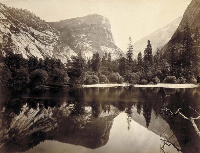 Charles L. Weed (born New York City 1824 - died Oakland, CA 1903) 'Mirror Lake and Reflections, Yosemite Valley, Mariposa County, California' 1865