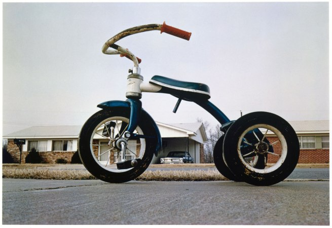 William Eggleston. 'Tricycle (Memphis)' about 1975, printed 1980