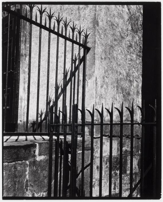 Brett Weston (American, 1911-1993) '[Wrought iron fence, New York]' c. 1945