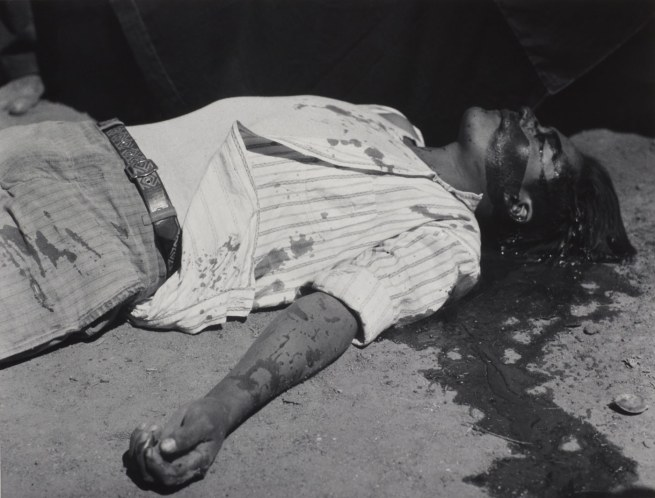 Manuel Alvarez Bravo (Mexican, 1902-2002) 'Obrero en huelga, asesinado' (Striking worker, assassinated) (portfolio #13) 1934