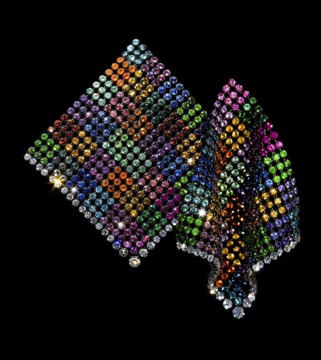 JAR. 'Multicolored Handkerchief Earrings' 2011