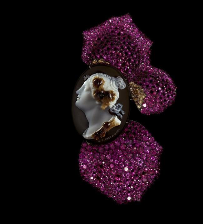 JAR. 'Cameo and Rose Petal Brooch' 2011