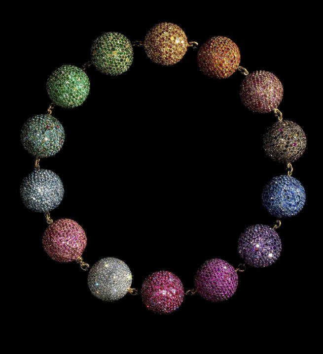 JAR. 'Colored Balls Necklace' 1999
