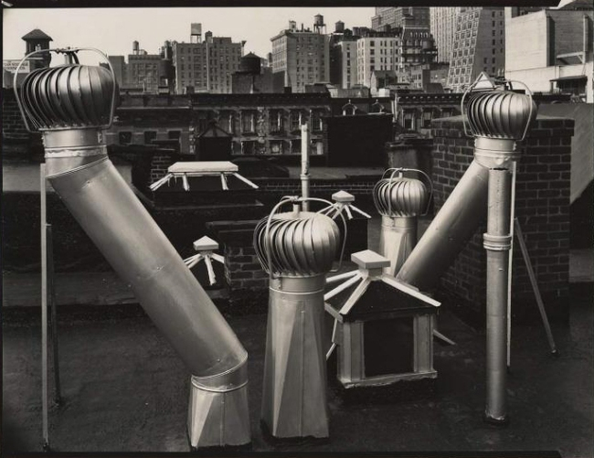 Brett Weston (American, 1911-1993) '[Air vents, New York]' 1945
