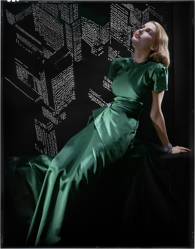 Erwin Blumenfeld. 'Untitled (Green dress)' 1946
