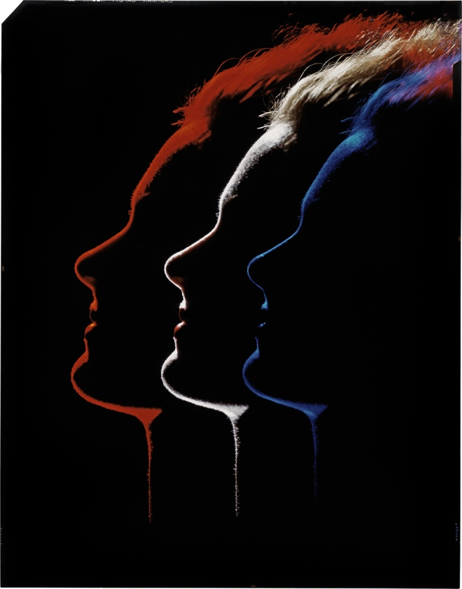 "Erwin Blumenfeld. Three profiles. Variant of the photograph published in the article ""Color and lighting"" Photograph Annual of 1952"