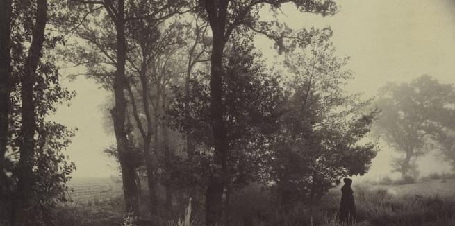 Félix Thiollier (1842-1914) 'Landscape with Figure, Forez (Loire)' (detail) c. 1880-1882