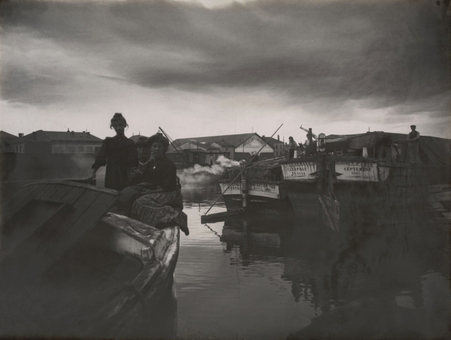 Félix Thiollier (1842-1914) 'Boats on the Seine, Paris' 1903-1905