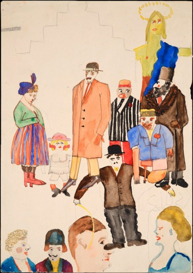 Erwin Blumenfeld. 'Group with Chaplin' Early 1920's