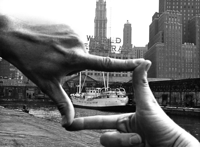 John Baldessari (American, born National City, California, 1931) 'Hands Framing New York Harbor' 1971
