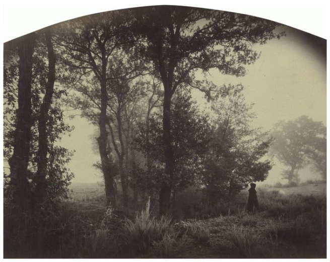 Félix Thiollier (1842-1914) 'Landscape with Figure, Forez (Loire)' c. 1880-1882