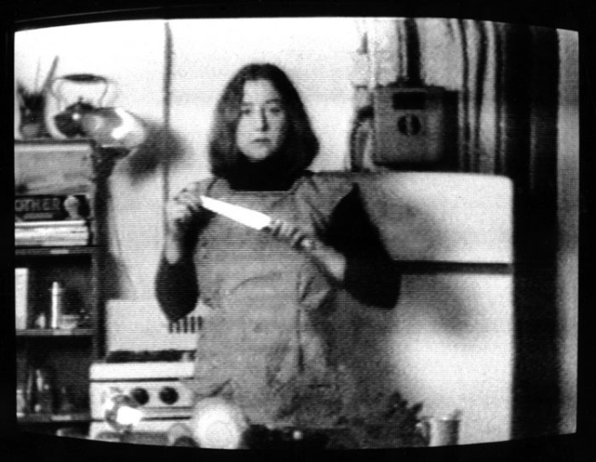Martha Rosler (American) 'Semiotics of the Kitchen' (still) 1975
