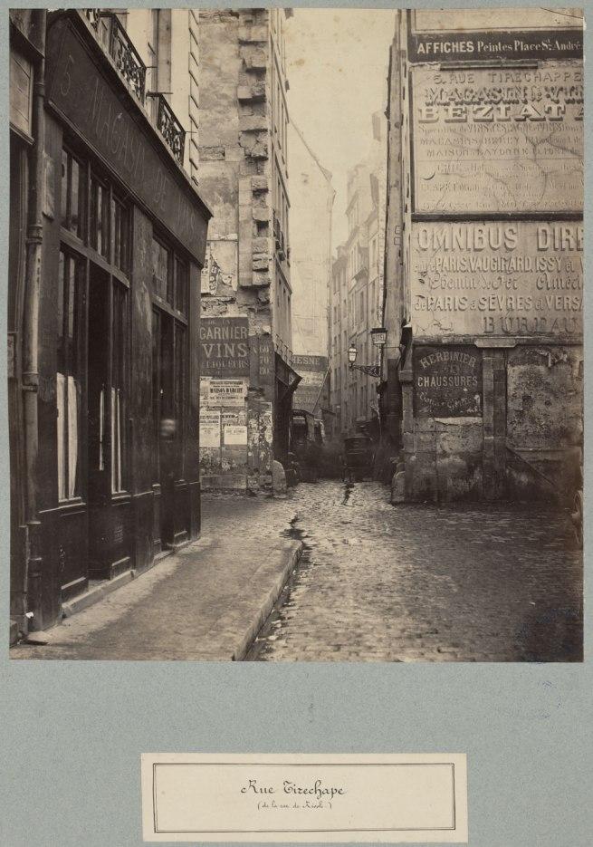 Charles Marville (1813-1879, photographer) 'Rue Tirechape (de la rue St Honoré)' c. 1853 - c. 1870