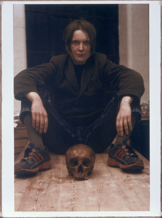 Sarah Lucas. 'Self Portrait With Skull' 1996