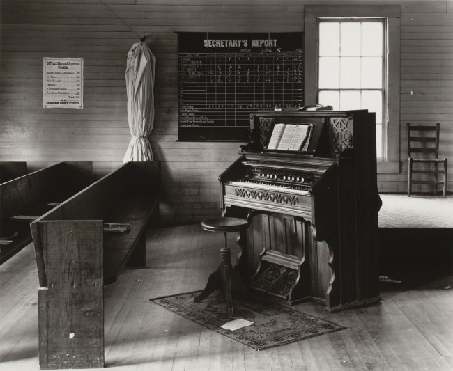 Walker Evans (American, 1903-1975) 'Church Organ and Pews, Alabama' 1936
