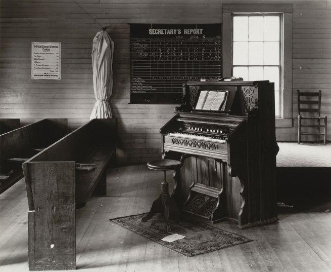 Walker Evans (American, 1903-1975) 'Church Organ and Pews, Alabama' 1936