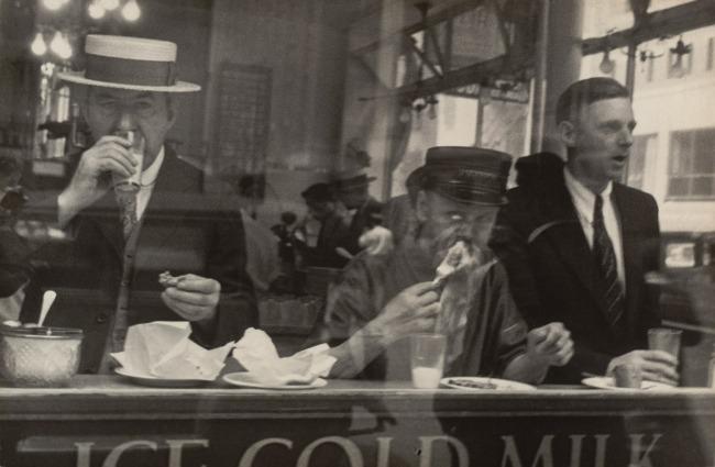 Walker Evans (American, 1903-1975) 'City Lunch Counter, New York' 1929