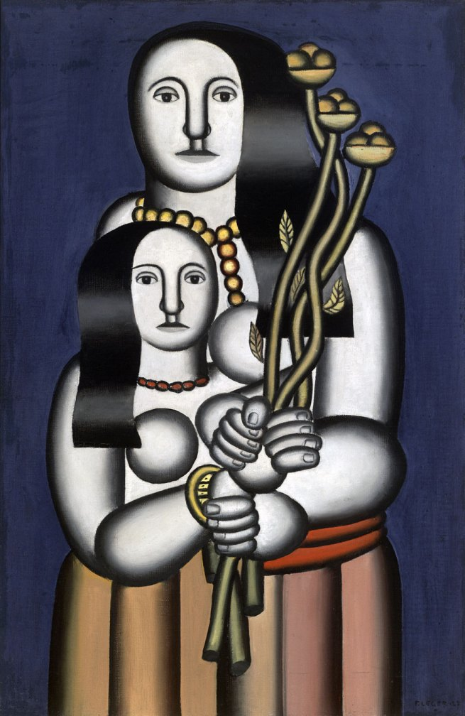 Fernand Léger. 'Deux femmes sur fond bleu' (Two Women on a Blue Background) 1927