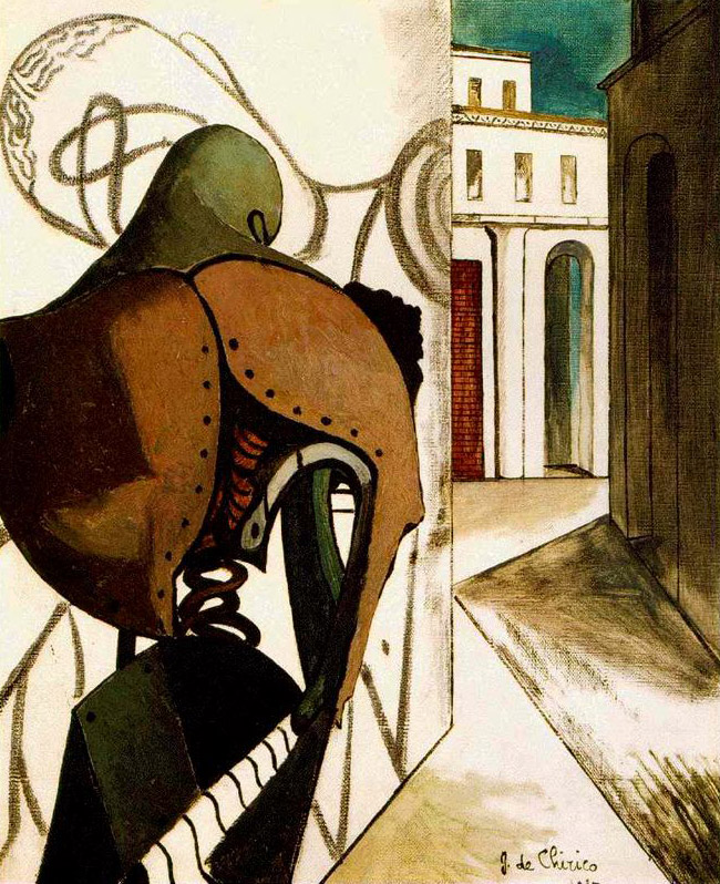 Giorgio de Chirico. 'Les contrariétés du penseur' (The Vexations of the Thinker) 1915