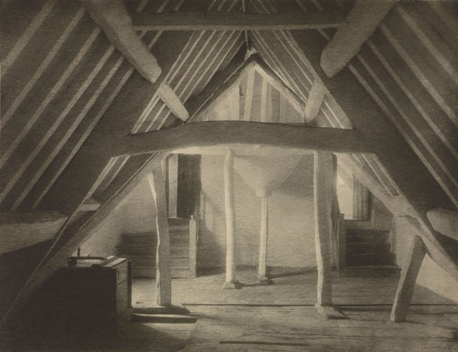 Frederick H. Evans (British, 1863 - 1943) 'Kelmscott Manor: In the Attics (No. 1)' 1896