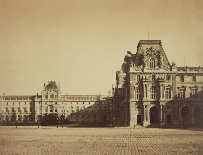 Gustave Le Gray (French, 1820 - 1884) 'Mollien Pavilion, the Louvre' 1859