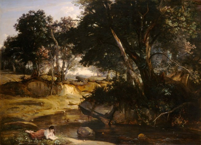 Jean-Baptiste-Camille Corot (French, 1796-1875) 'Forest of Fontainebleau' 1834