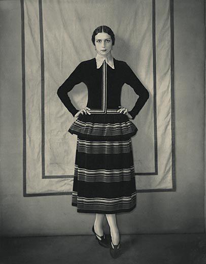 Edward Steichen (American, 1879-1973) 'Model Dinarzade in a Dress by Poiret' 1924