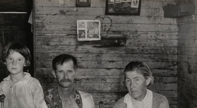 Walker Evans (American, 1903-1975) 'Sharecropper's Family, Hale County, Alabama' (detail) March 1936