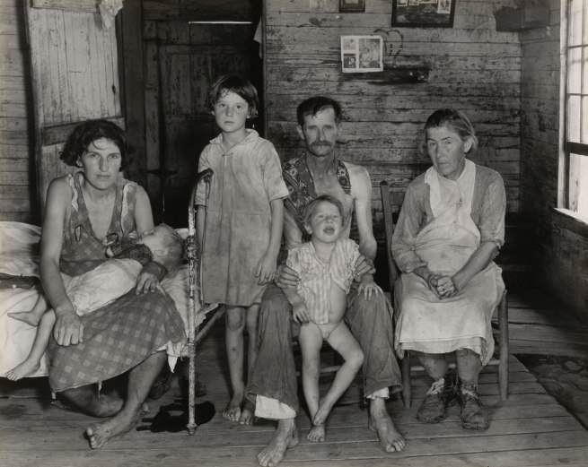 Walker Evans (American, 1903 - 1975). 'Sharecropper's Family, Hale County, Alabama / Bud Fields and His Family, Hale County, Alabama / Bud Woods and His Family' 1936