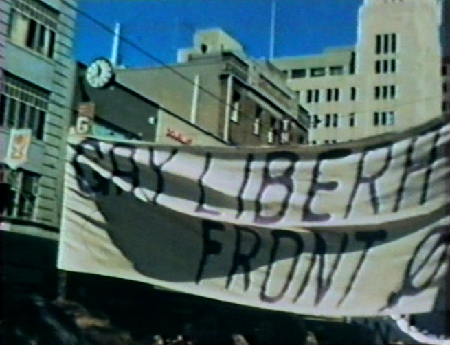 Barbara Creed. 'Untitled [Gay Liberation Front banner]' Melbourne, 1973