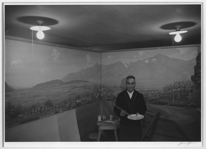 Ansel Adams (American, 1902-1984) 'C.T. Hibino, artist, Manzanar Relocation Center' 1943