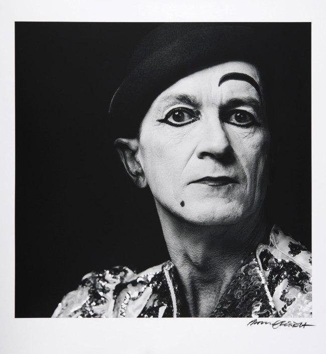 Hans Gedda. 'Self Portrait as The White Clown' Reprint 2012