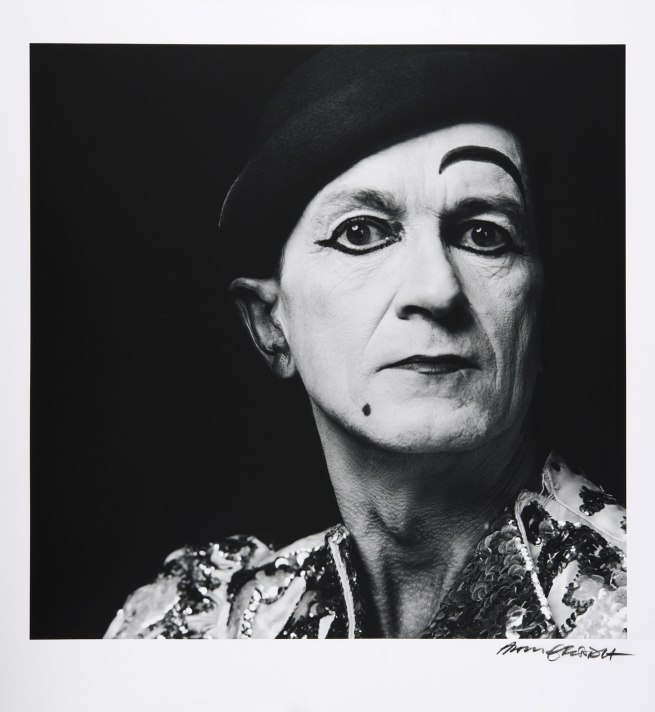 Hans Gedda. 'Self Portrait as The White Clown' Reprint 2012