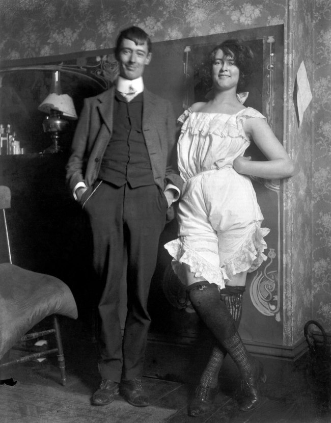 Lionel Lindsay. 'Norman Lindsay and Rose Soady, Bond Street studio' c. 1909
