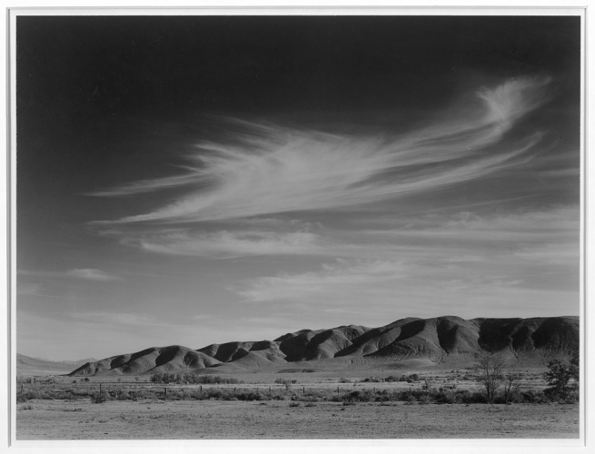Ansel Adams (American, 1902-1984) 'View south from Manzanar to Alabama Hills, Manzanar Relocation Center' 1943