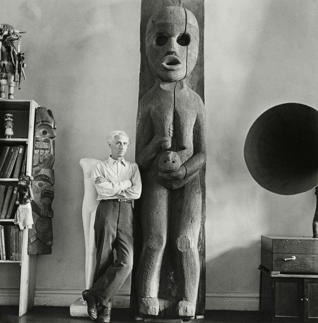 Hermann Landshoff. 'Max Ernst at Peggy Guggenheim's home, New York, fall 1942' 1942