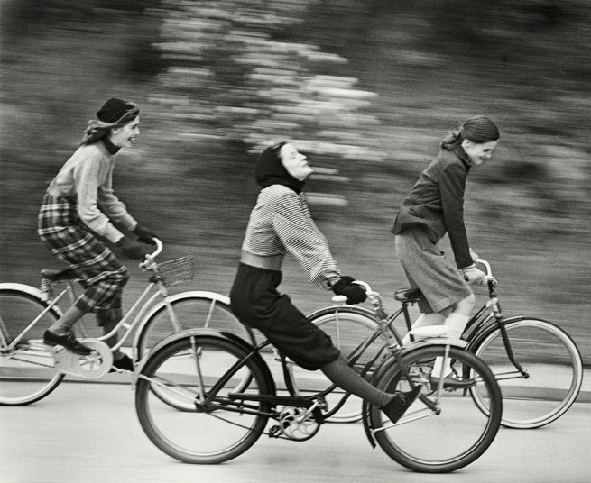 Hermann Landshoff. 'The Bicyclers' Published in 'Junior Bazaar' August 1946