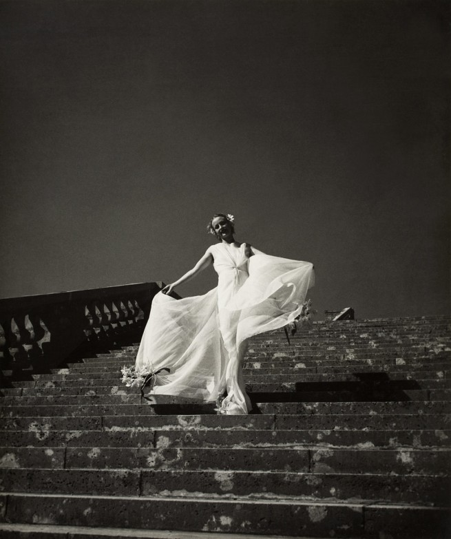 Hermann Landshoff. 'Model Cora Hemmet on the Grand Versailles Staircase' 1934-38