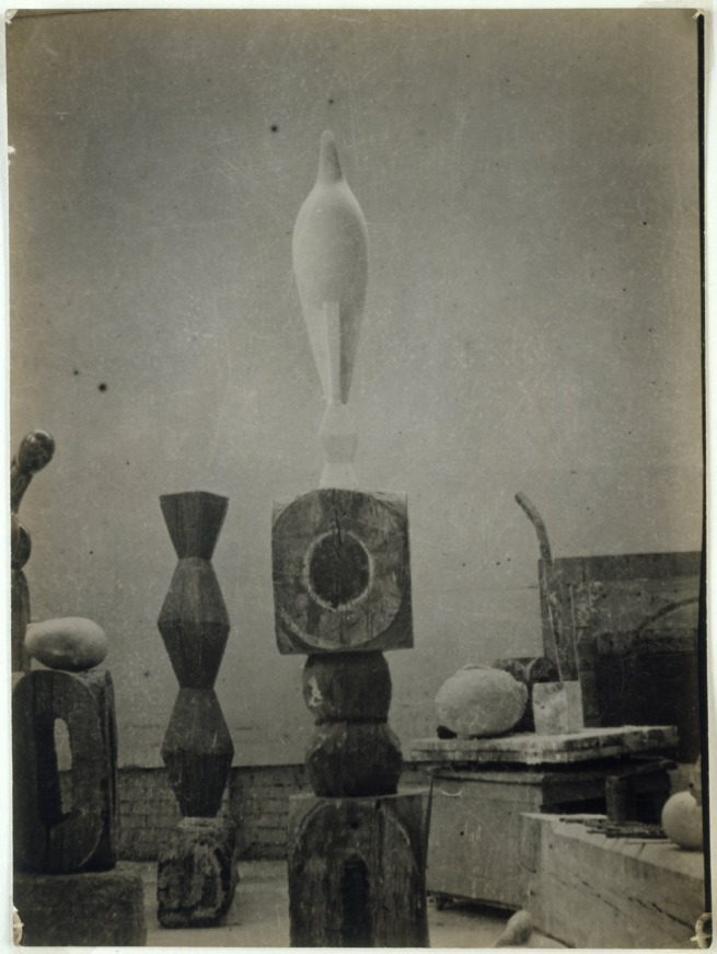 Constantin Brancusi. 'View of the Studio with Maïastra' 1917