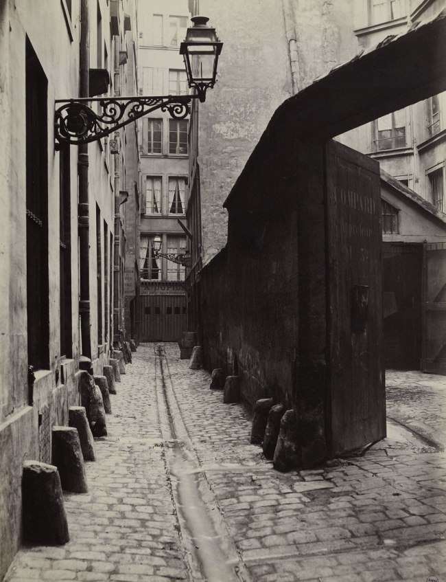 Charles Marville (French, 1813-1879) 'Impasse de la Bouteille from the rue Montorgeuil (Second Arrondissement)' 1865-68