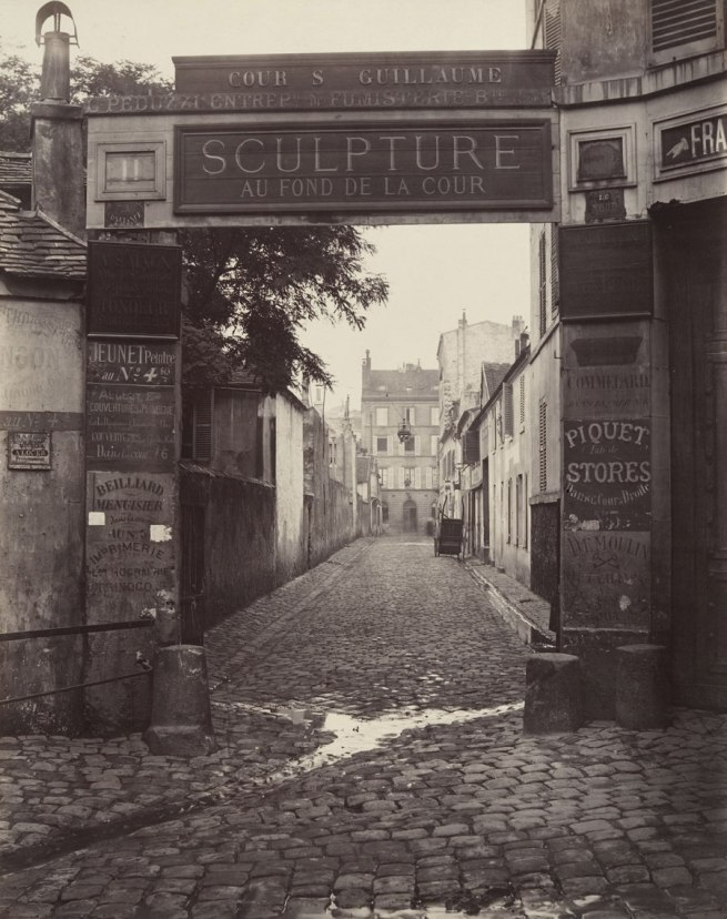 Charles Marville (French, 1813-1879) 'Cour Saint-Guillaume (Ninth Arrondissement)' 1866-67
