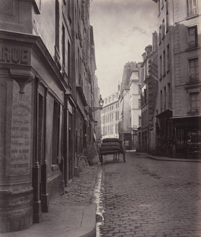 Charles Marville (French, 1813-1879) 'Rue de la Bûcherie from the cul de sac Saint-Ambroise (Fifth Arrondissement)' 1866-68