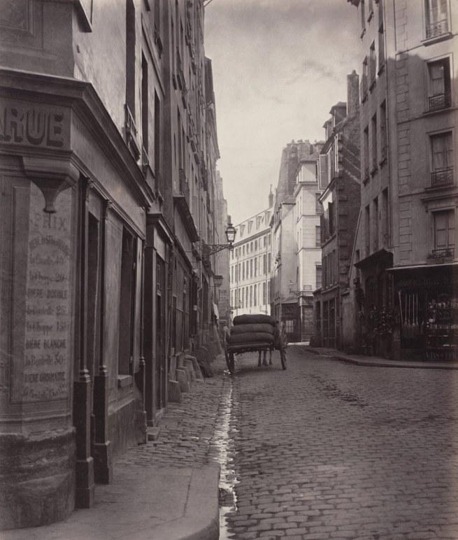 Charles Marville (French, 1813-1879) 'Rue de la Bûcherie from the cul de sac Saint-Ambroise (Fifth Arrondissement)' 1866-68