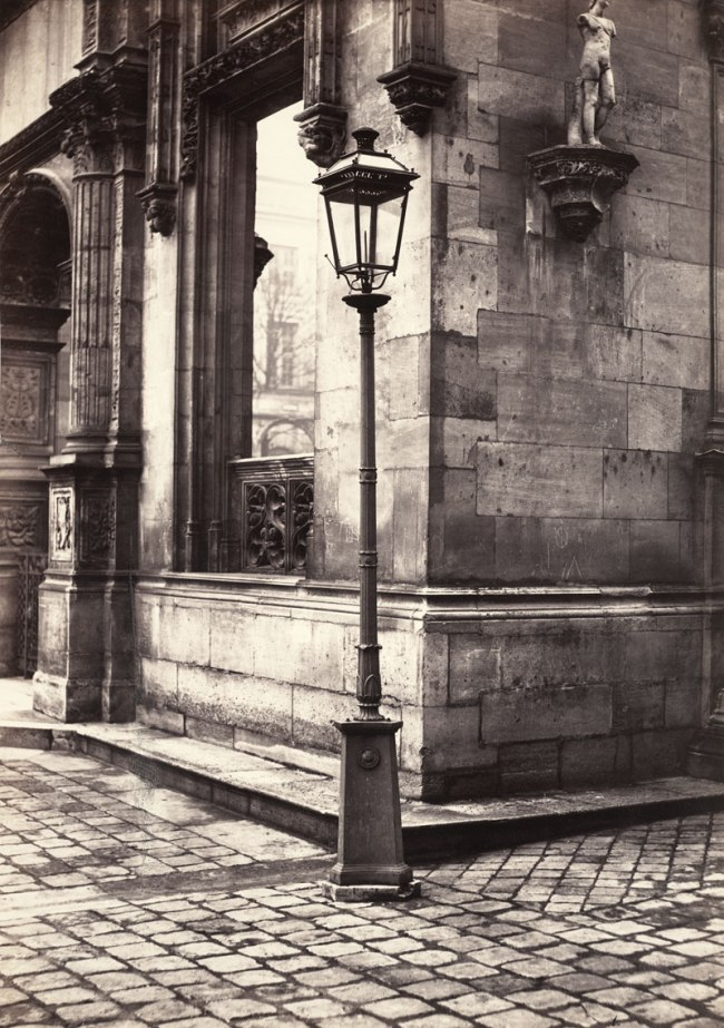 Charles Marville (French, 1813-1879) 'Lamppost, Entrance to the École des Beaux-Arts' c. 1870